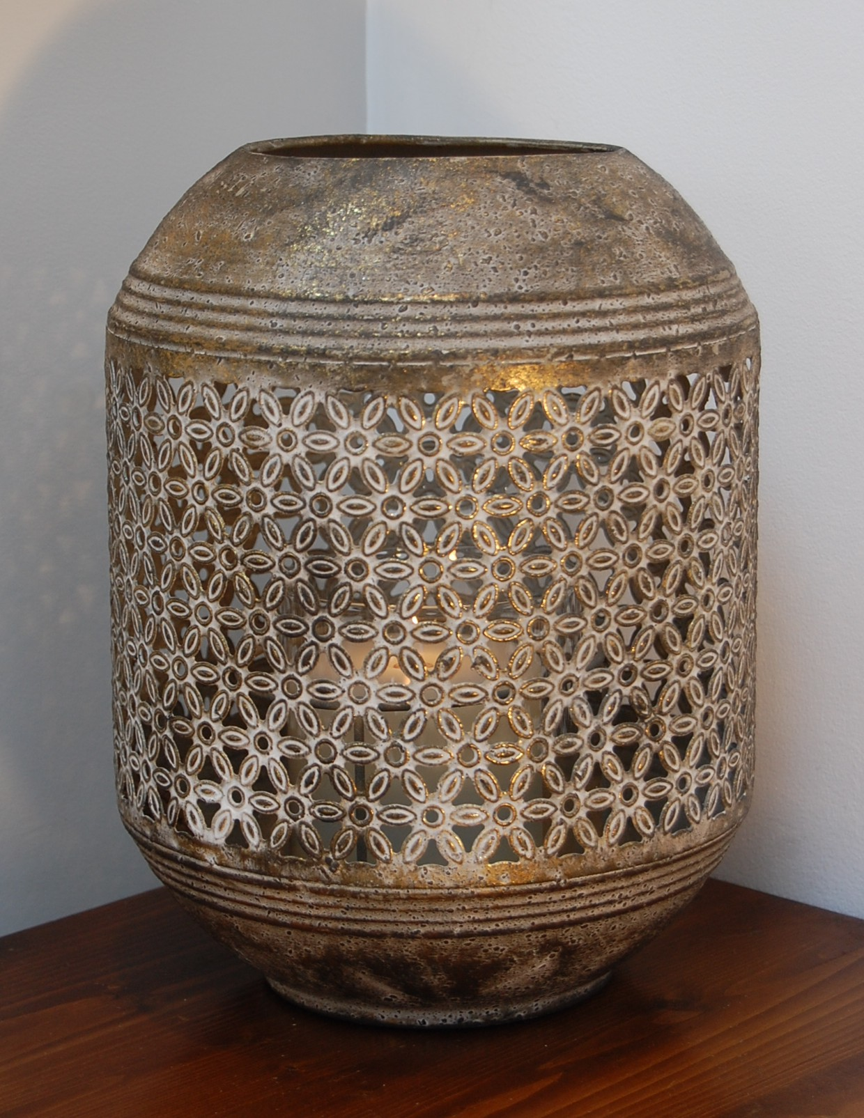 Moghul Drum Lantern Small Drum Shaped Lantern